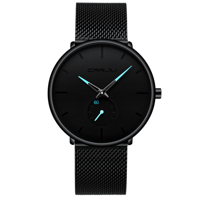 Black Steel Men's Watch